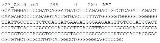 DNA测序峰图转化成Phred格式