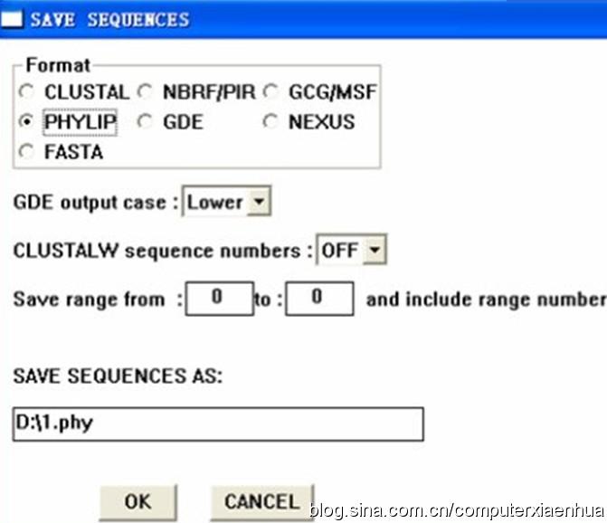 Clustal的使用总结(Clustalx+Clustalw)