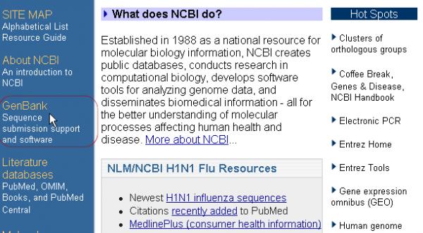利用BankIt向NCBI提交序列方法