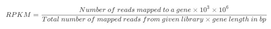 RNA-seq的标准化方法