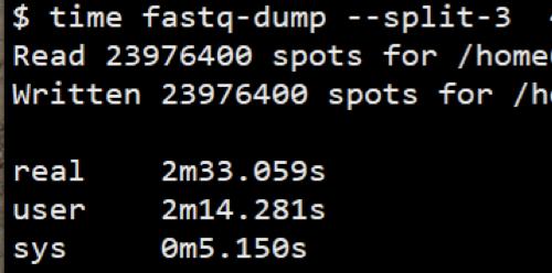 Fastq-dump使用