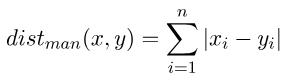 相似度计算之曼哈顿距离