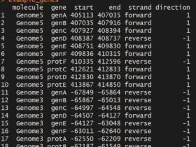 gggenes绘制多物种基因结构比较