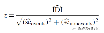 综合判别改善指数IDI的计算方法