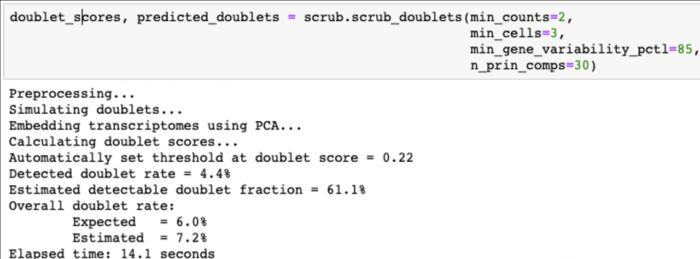 单细胞数据质控-双细胞预测-scrublet使用教程